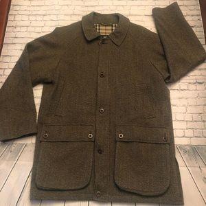 Burberry Brown Tweed Coat Size Medium